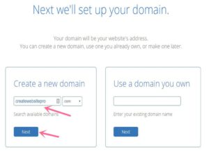 Bluehost create domain