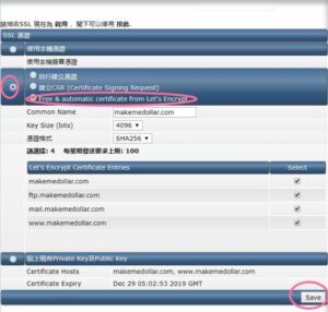 Scicube SSL certication
